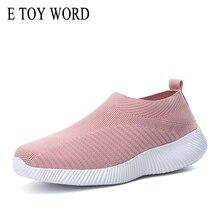 E TOY WORD Fashion autumn Set feet Women Shoes Socks shoes flat leisure light flying woven Breathable womens sneaker Size 35-43