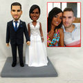 Unique wedding cake topper funny near me always and forever souvenir mini statue collection hands made from your photo sculpture