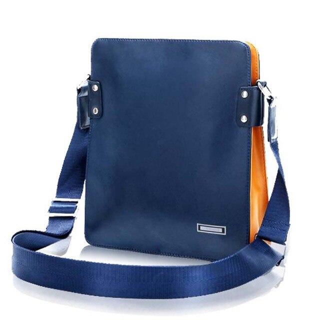 Business Men 's Shoulder Bag Messenger Bag Hit Color Casual Shoulder Bags Paul Male Bag