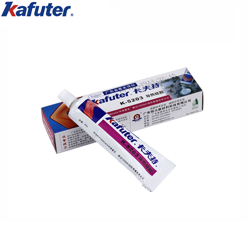 Kafuter White 80g Thermal Silica Gel for Filler bonding between CPU and radiator,high-power electrical module and radiator etc. цена