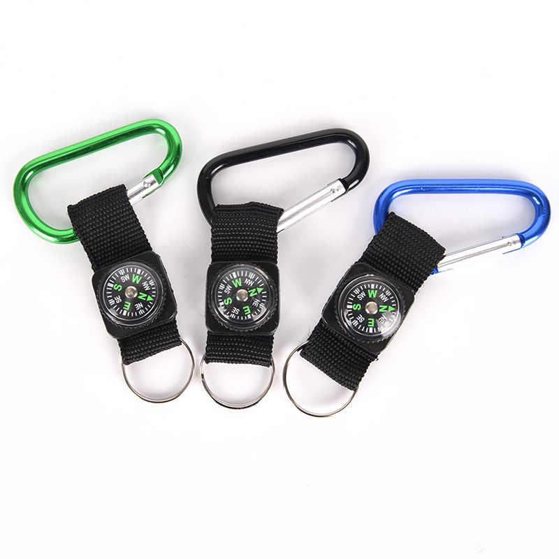 ミニ多機能 3 1 でハイキング旅行コンパス温度計カラビナキーリング応急処置キット安全サバイバルツール高品質