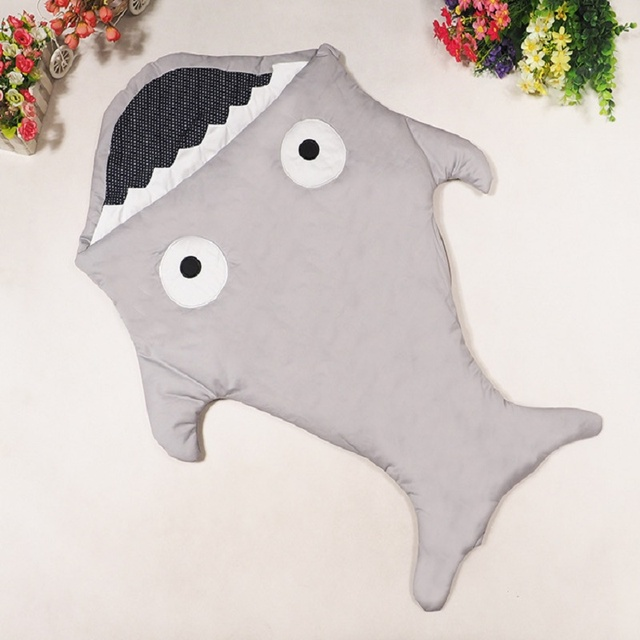 Shark Sleeping Bag Newborn Sleeping Bag Winter Warm Strollers Bed Swaddle Blanket Wrap Cartoon Bedding Cotton Baby Sleepsacks