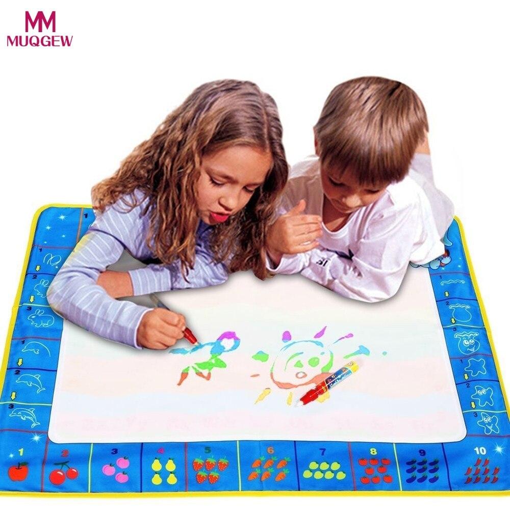 60*80 см для маленьких детей добавить воды с Magic Pen Doodle картина Вода Рисование играть Коврики в Игрушки для рисования доска Детская день