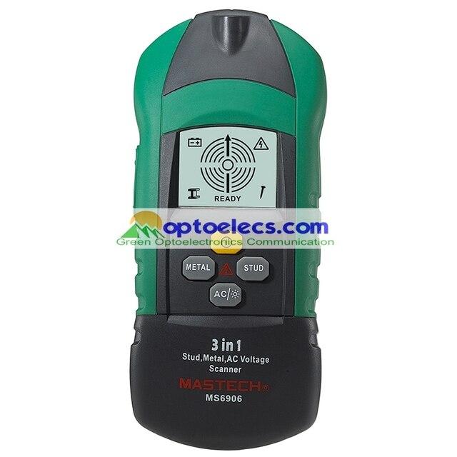 Darmowa wysyłka MASTECH MS6906 3 w 1 Stud Metal AC napięcie skaner detektor Tester miernik grubości w/ NCV Tester + detektor drewna