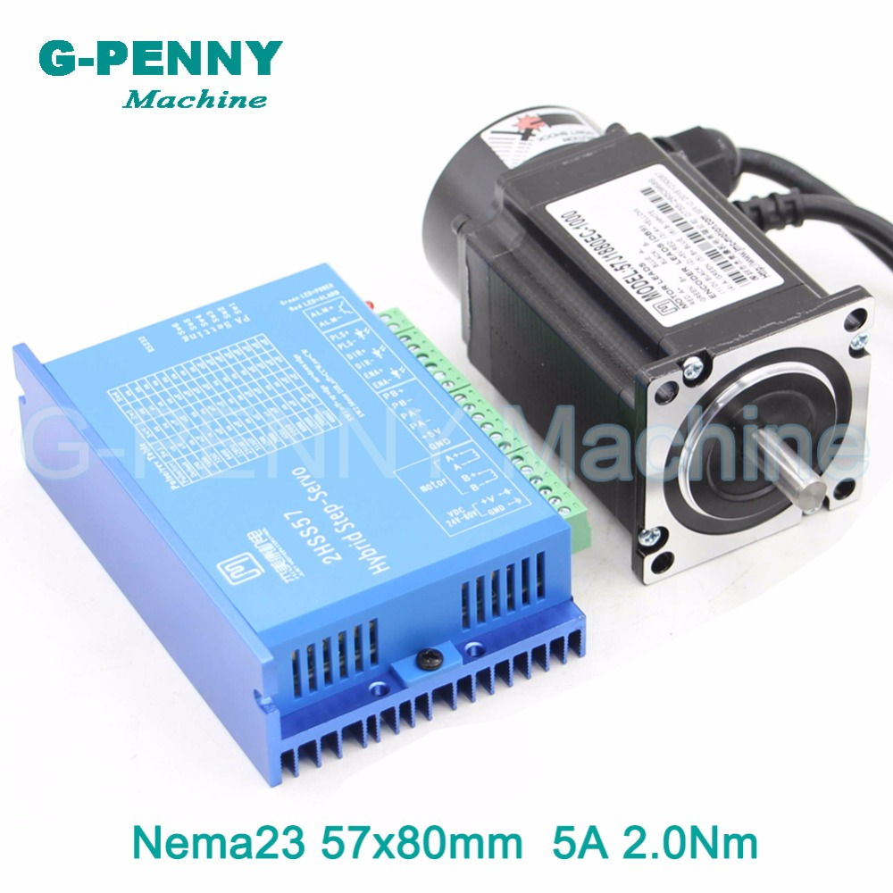 Nema23 Closed Loop Stepper Motor 2.0N.m 4 wires 285Oz-in D=8mm Nema 23 2.2Nm Close Loop Stepping Motor Servo Stepper Motor wantai closed loop step motor 86hbm80 1000 servo motor 9n m nema 86 hybird closed loop 2 phase stepper motor www wantmotor com