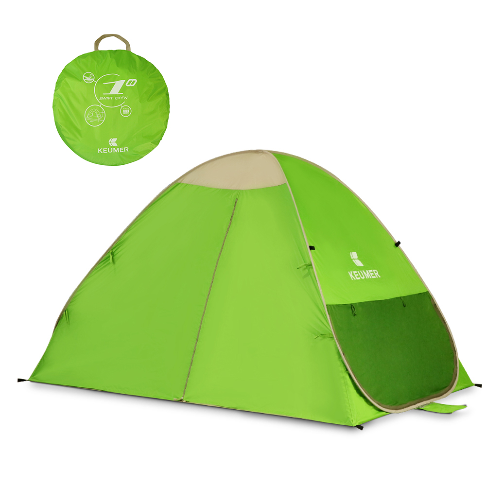 KEUMER Pop Up Beach Tent Lightweight Automatic Instant Outdoor Tent UV Protection Camping Fishing Tent Cabana Sun Shelter-in Tents from Sports & Entertainment    1