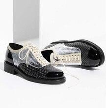 MAGGIE'S WALKER 2017 Роскошный Дизайн Натуральной Кожи Спорт Мода Суперзвезда Плоские Туфли и Оксфорд для Женщин Обувь Размер 33 ~ 41