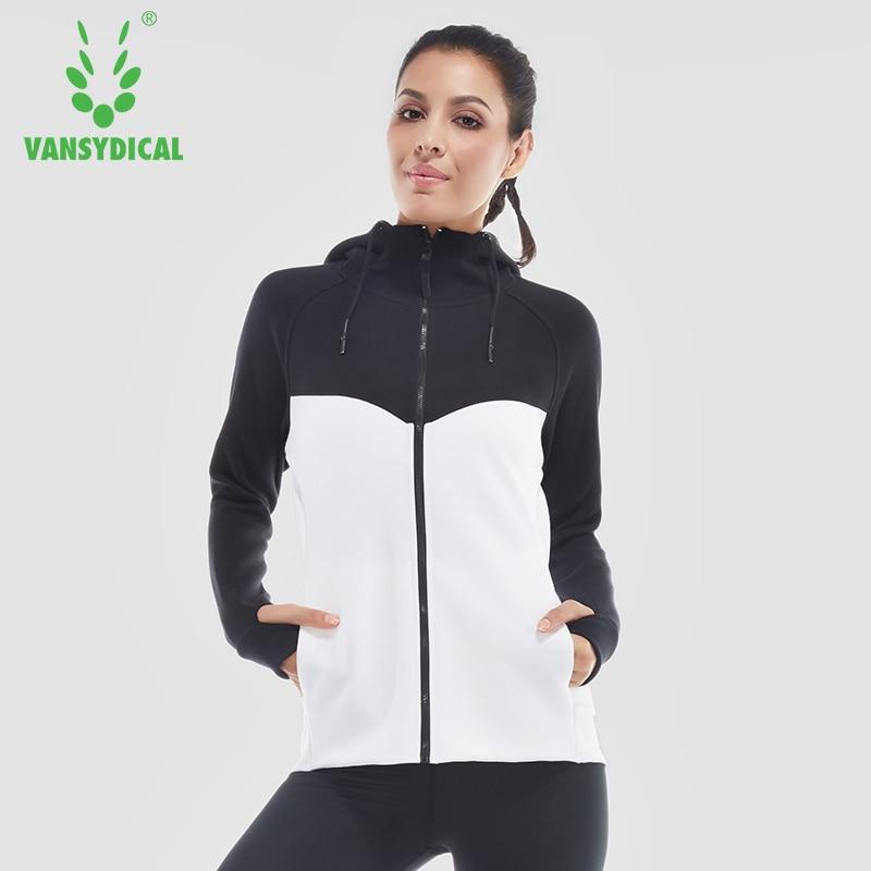 Vansydical Winter Sports Fitness Sportswear Training Equipment Running Jackets Jacket Gymnasium Zipper Yoga