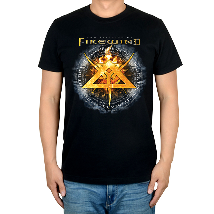 free shipping Firewind heavy metal speed metal The Premonition Burning Earth album black 100% cotton t-shirt