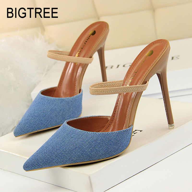 Bigtree Shoes Women Pumps New Women Stiletto Fashion High Heel Women Shoes Spring Kitten Heels Women Ssandals Sexy Party Shoes