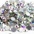 SS8 Cristal AB cor 1440 pcs Não Hotfix Strass 2.3mm cristal Prego flatback Art Pedrinhas