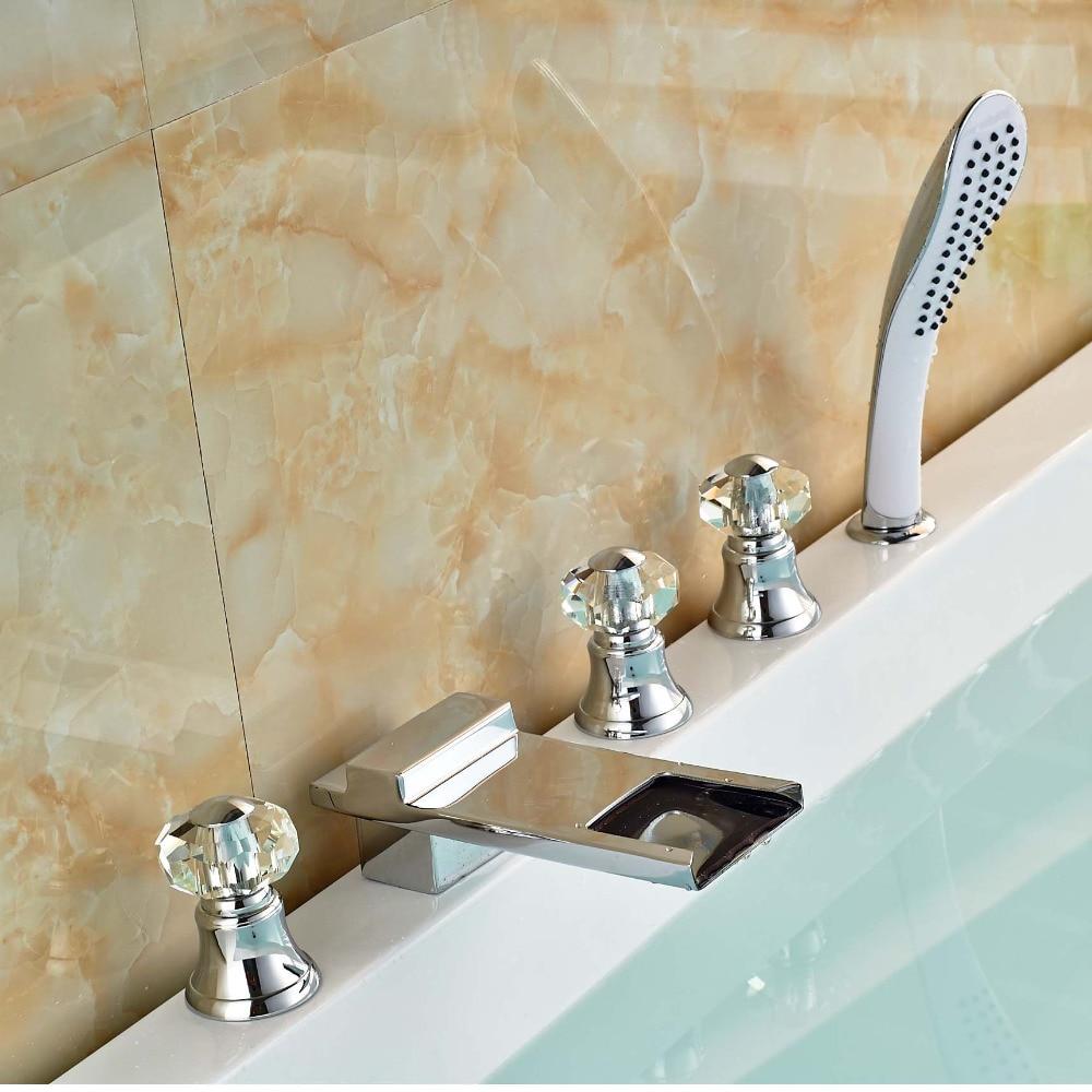 Waterfall Bathtub Online Get Cheap Crystal Handle Faucet Aliexpresscom Alibaba Group