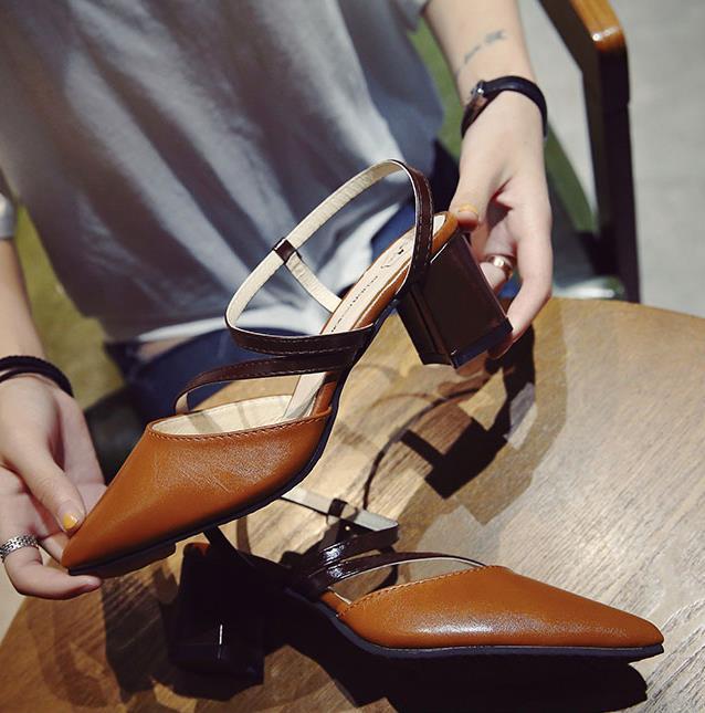 Rivets Beige 2018 gris Mince Avec Femmes jaune Talons De Chaussures Sexy Haute Romain Nouveau Bande chocolat Sandales D'été Boucle FZa1t8wq