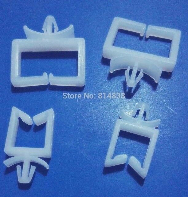 CHA 2 White Plastic Nylon Wire Mount Cable Tie Holder Beam Line ...