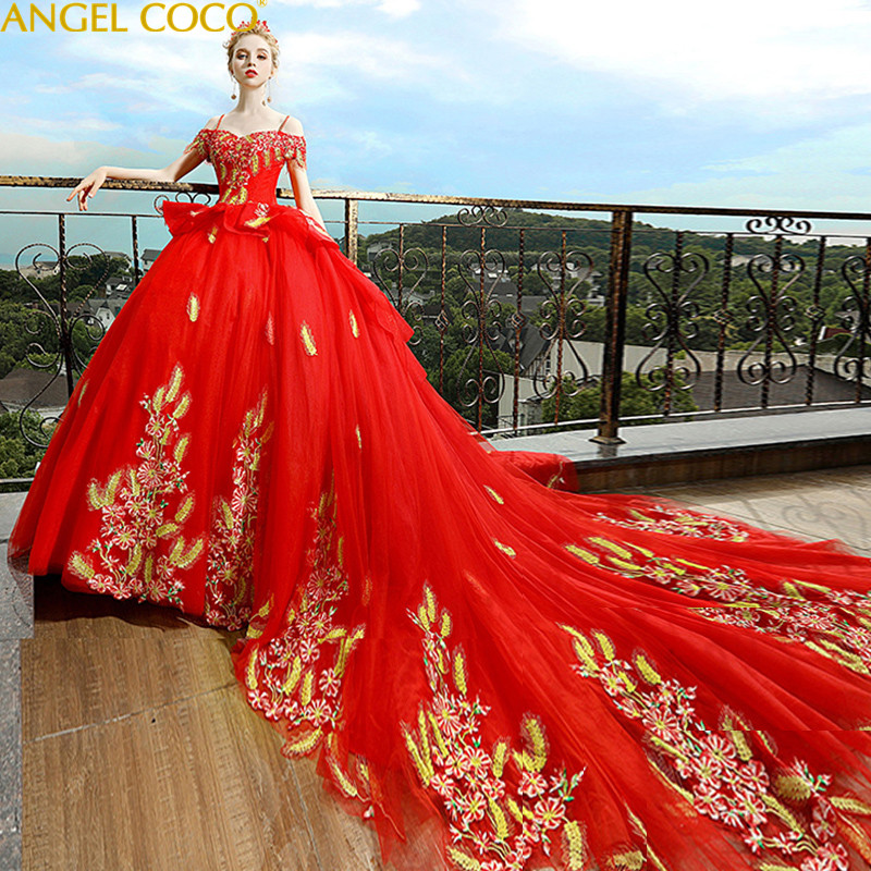Court Red Long Maternity Wedding Dress Maternity Gown Lace Maternity Dress Embroidery Pregnant Women Dress Pregnancy Clothes bailey 44 women s printed court shirt dress