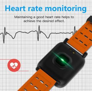 Image 2 - Usine A6 montre intelligente moniteur de fréquence cardiaque Sport Fitness Tracker rappel dappel de pression artérielle hommes montre pour iOS Android cadeau