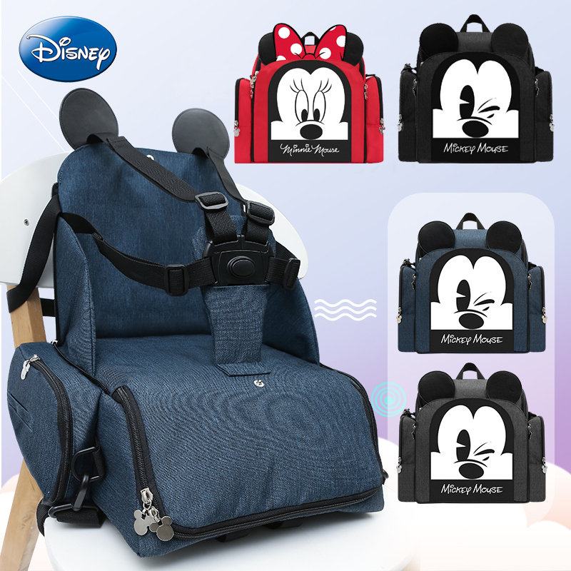 Disney Mummy Maternity Diaper Bag Large Nursing Travel Backpack Designer Sitting Stool Stroller Baby Bag Care Nappy Backpack
