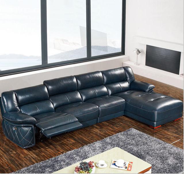 Living Room Sofa set corner sofa L real genuine cow leather sectional sofas recliner modern muebles de sala moveis para casa