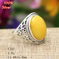100% Sterling 925 Silver Jewelry Adjustable Oavl Ring Blank Inner 11.8*15.3MM Setting Gemstone Base Tray Antique Silver Plate