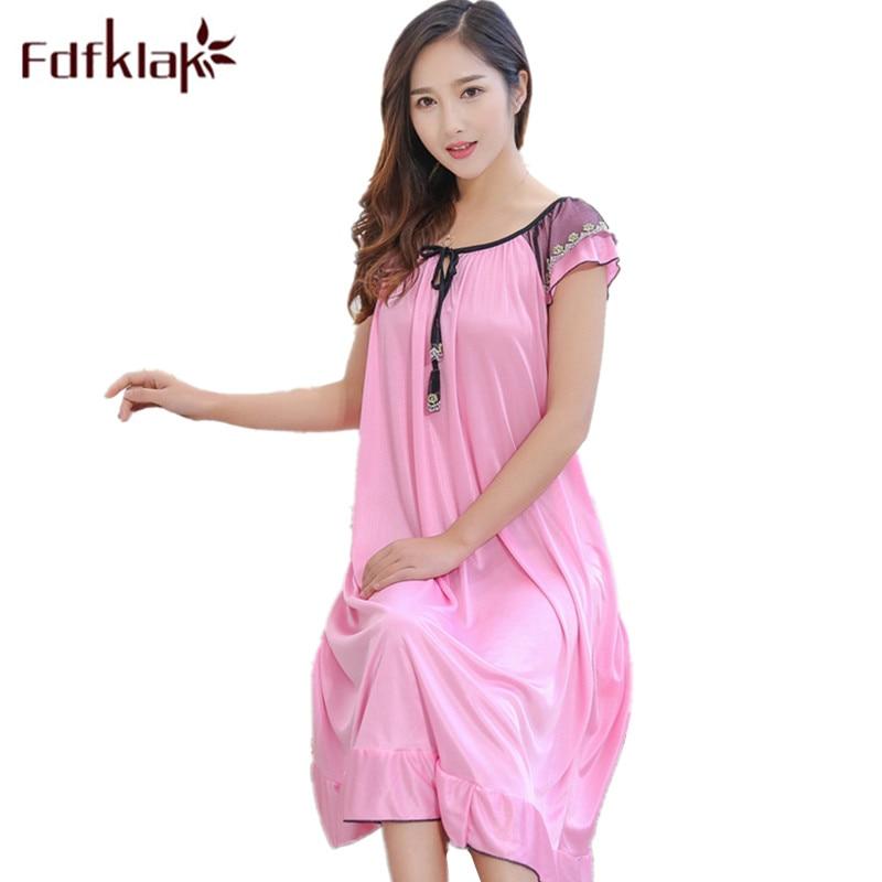 Fdfklak Silk Mother For Pregnant Women Nursing Sleepwear ...