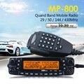 Zastone MP800 Quad Band VHF UHF Rádio Transceptor Móvel Presunto CB Walkie Talkie 50 km Automotivo Estação de Rádio em Dois Sentidos rádios