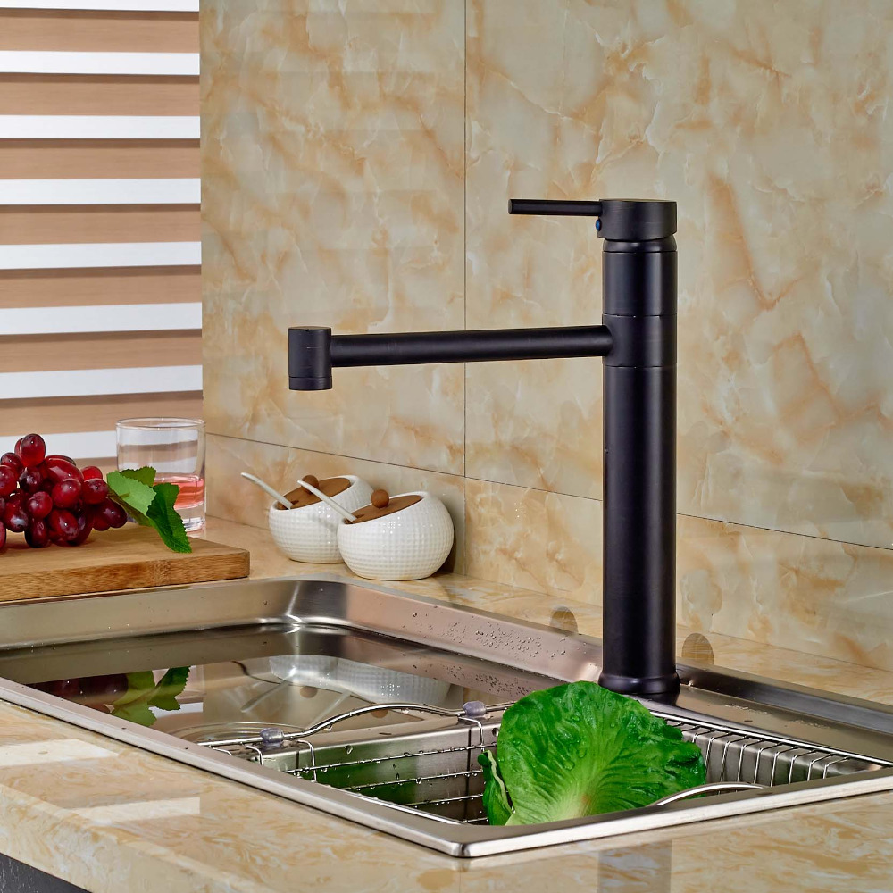 Single Lever Kitche Mixer Taps One Hole Hot Cold Water