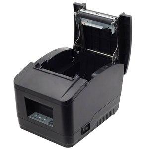 Image 4 - Impresora WIFI POS de alta calidad, 80mm, impresora de recibos automática, wifi + interfaz usb para supermercado, tienda de té de la leche