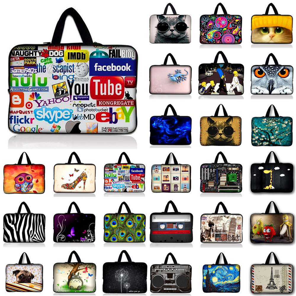 waterproof 9.7 10.1 11.6 13 13.3 14 14.4 15 15.6 17 17.3 inch Notebook Sleeve Laptop Bag Case Cover With handle For HP ASUS Dell