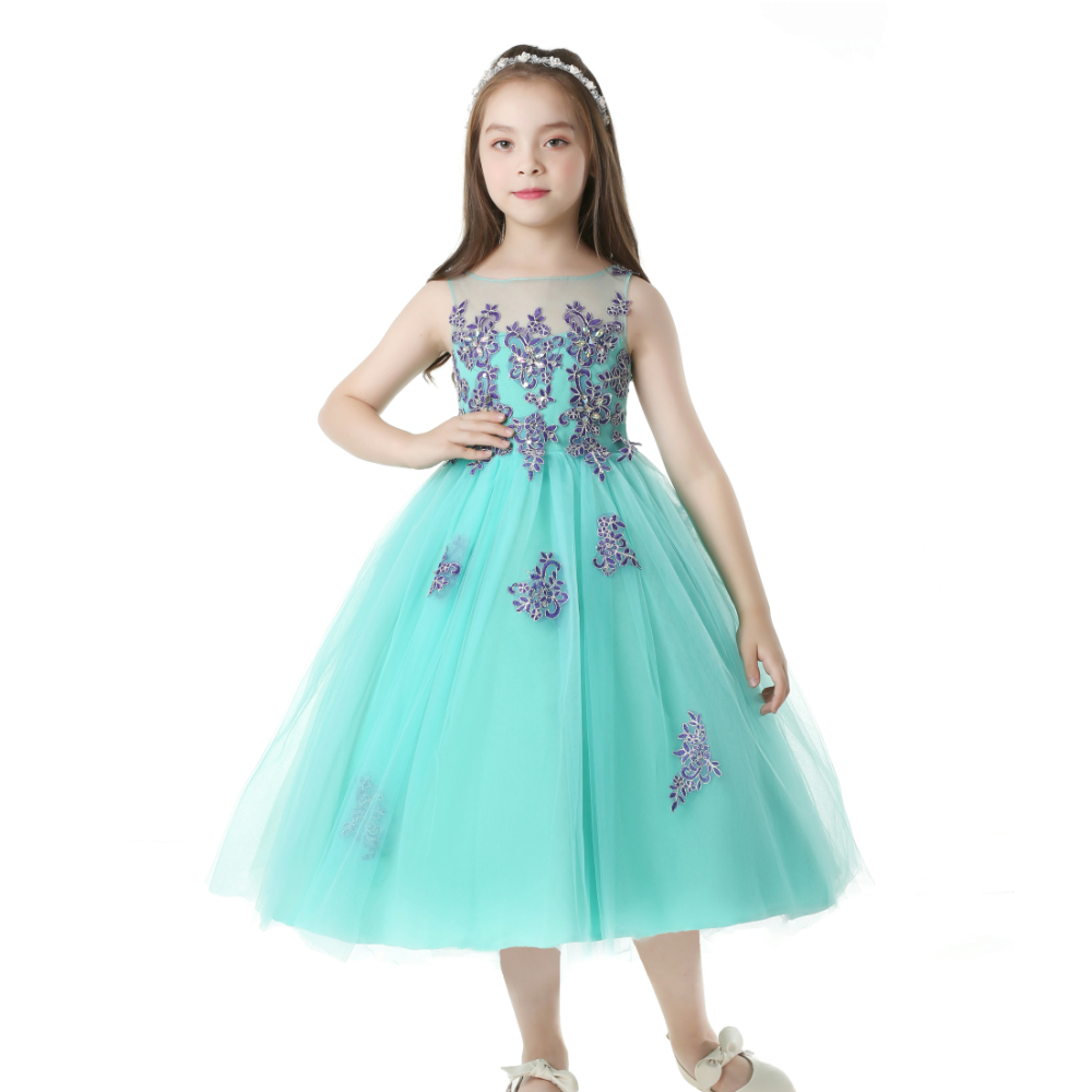 Free Shipping Patchwork 4 14 Years Girl Party Dress 2018 New Arrival ...