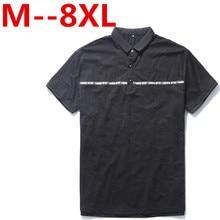 10XL 9XL 8XL 7XL 6XL 5XL 4XL Summer Men Polo Shirt Solid Turn Down Collar Short-sleeved Fashion Casual Shirt Free Shipping
