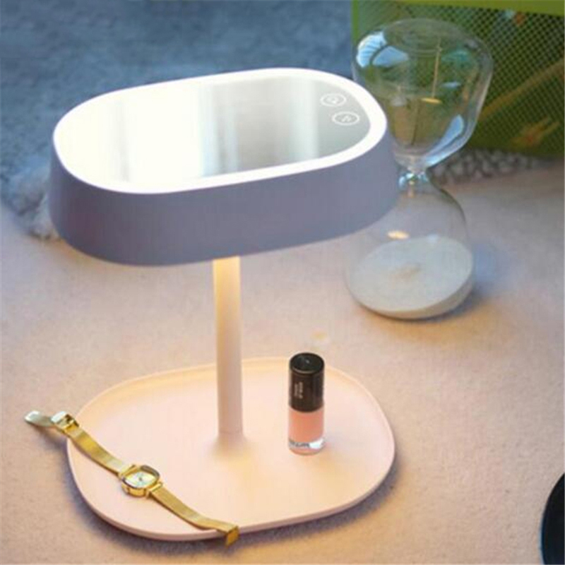 New Creative LED Lamp Make Up Mirror Night Lights Illuminator Smart Home  Lights Fashion Table Lamps for Birthday Christmas Gift in Night Lights from  Lights. New Creative LED Lamp Make Up Mirror Night Lights Illuminator