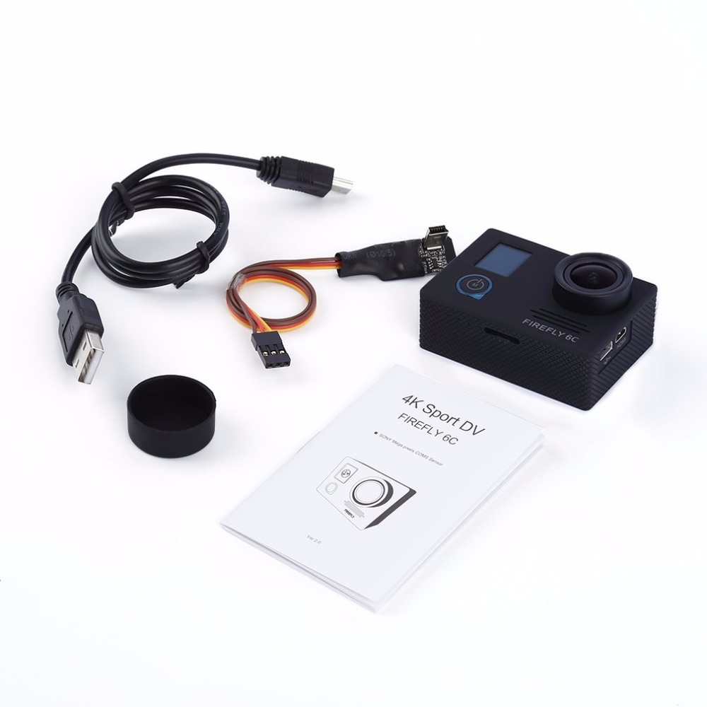 Black 4K @24FPS 16MP HD Action Sports Camera FPV for FIREFLY 6C f88 action camera black