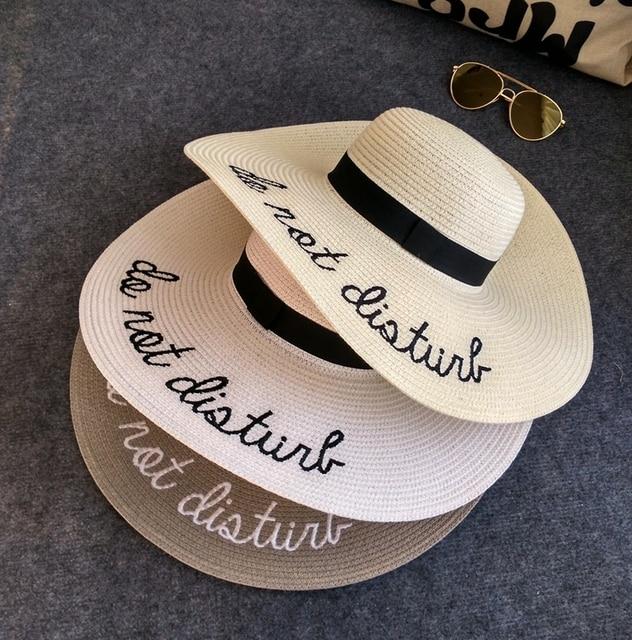 Cllikko Marca do not disturb ampia brim floppy pieghevole sun hat cappello  di estate per le 52093c655211