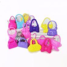 10 PCS Morden Doll Fashion Cute Bags Toys Accessories Xmas Supplies For Doll Mix Styles Colors Gift(China)