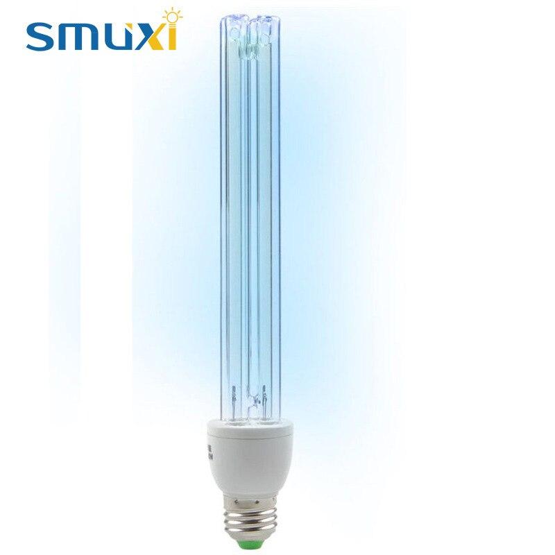 Smuxi UVC Ultraviolet UV Light Tube Bulb E27 20W Disinfection Lamp Ozone Sterilization Mites Lights Germicidal Lamp Bulb AC220V