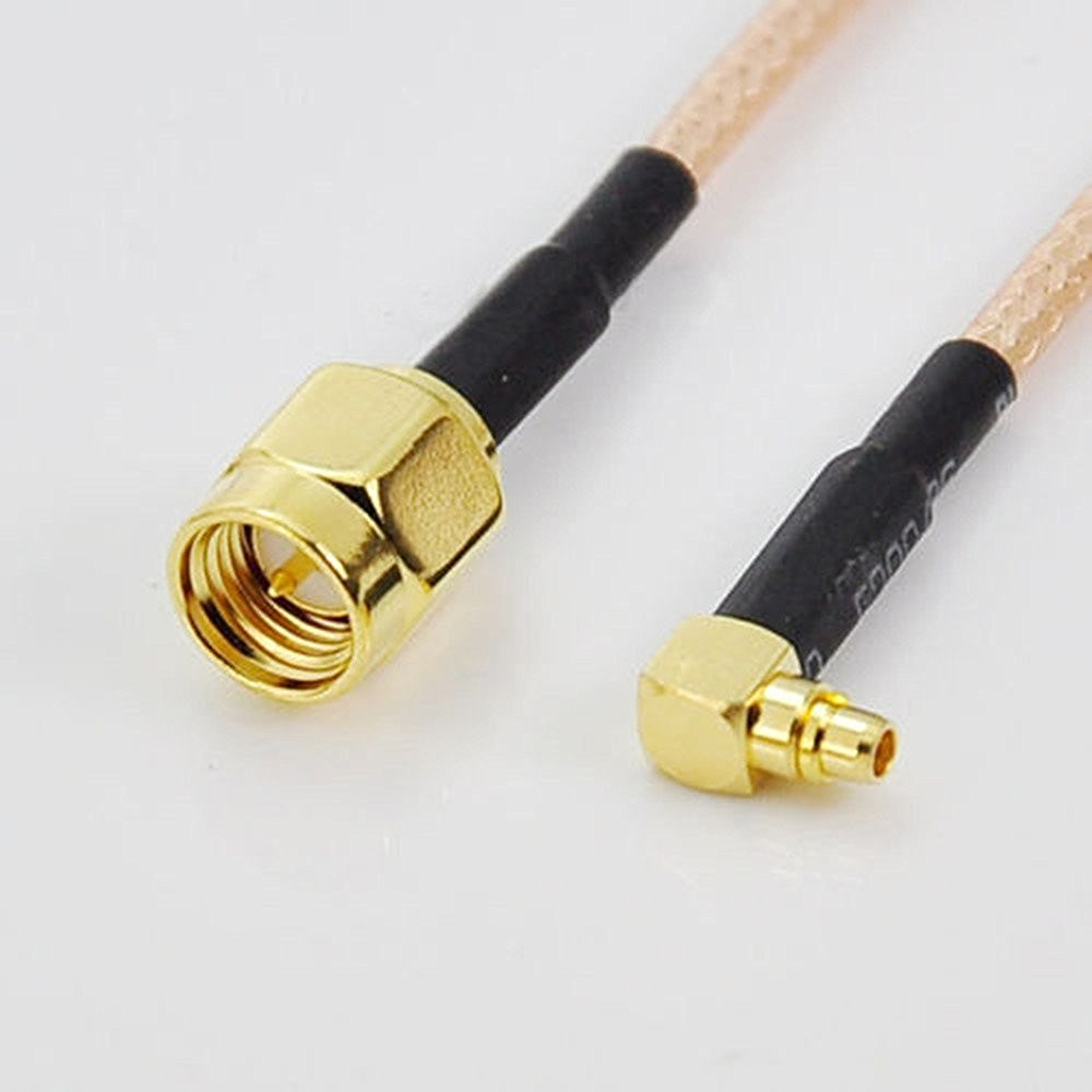 ALLISHOP 30Pcs 15CM SMA Male to MMCX male right angle Connector Coax pigtail Cable RG316 WiFi Antenna Extension Cable
