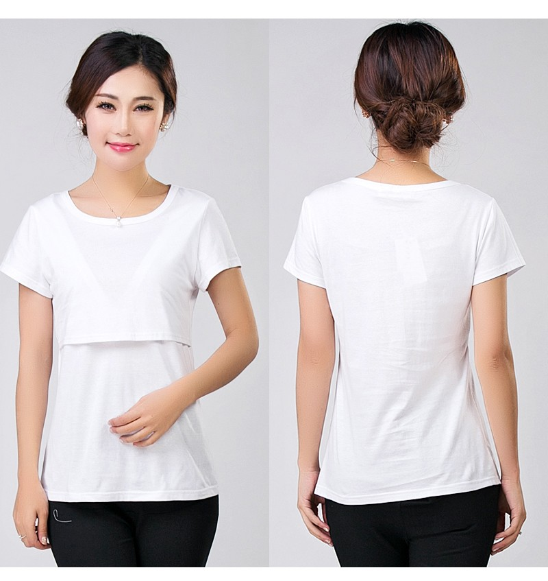 3054b494d3231 2017 Summer Breast Feeding Tops Tees Maternity Nursing Clothes Pregnant  Women Breastfeeding T-shirt Maxi