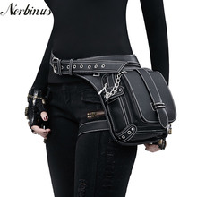 Norbinus Женская мотоциклетная поясная сумка на ногу из искусственной кожи, набедренная поясная сумка в стиле стимпанк рок, Мужская кобура, сумка-мессенджер на плечо, сумка через плечо