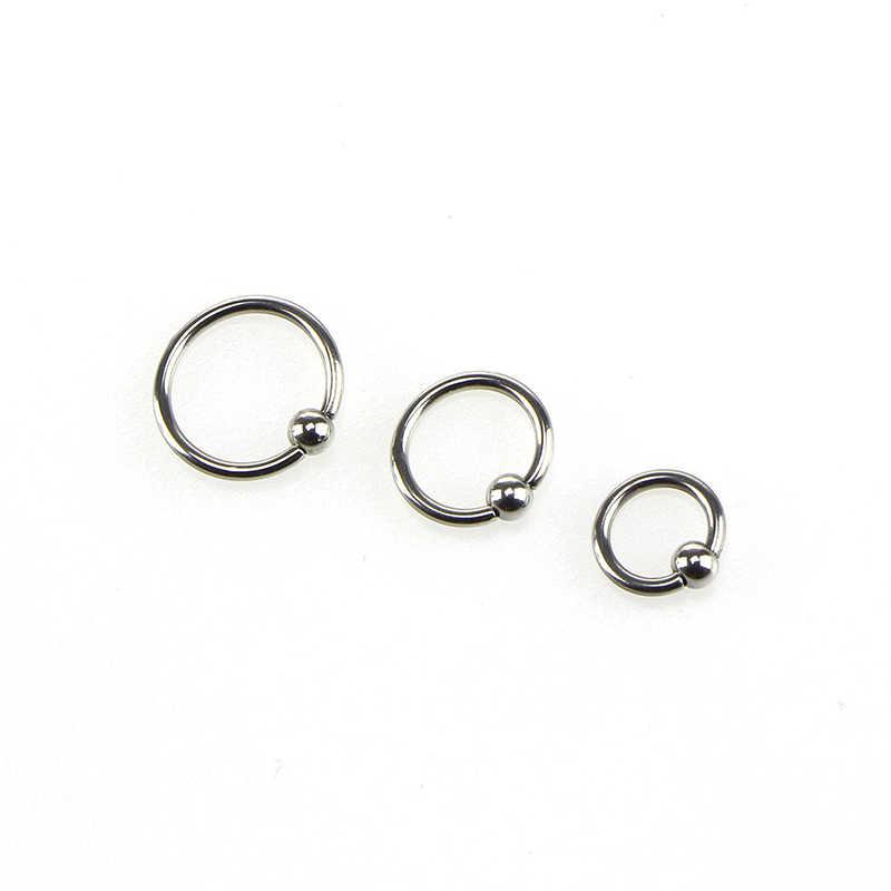 Body เจาะเครื่องประดับ 1 pcs การแพทย์สแตนเลสสตีลจมูก Septum แหวน Lip Nipple แหวนหูหูกระดูกเล็บมีให้เลือก 6 8 10 มม.