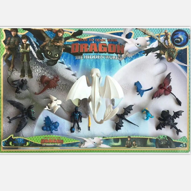 Action-Figure Toothless-Toys Train Light-Fury Birthday-Gifts Your Dragon 23cm for Children's