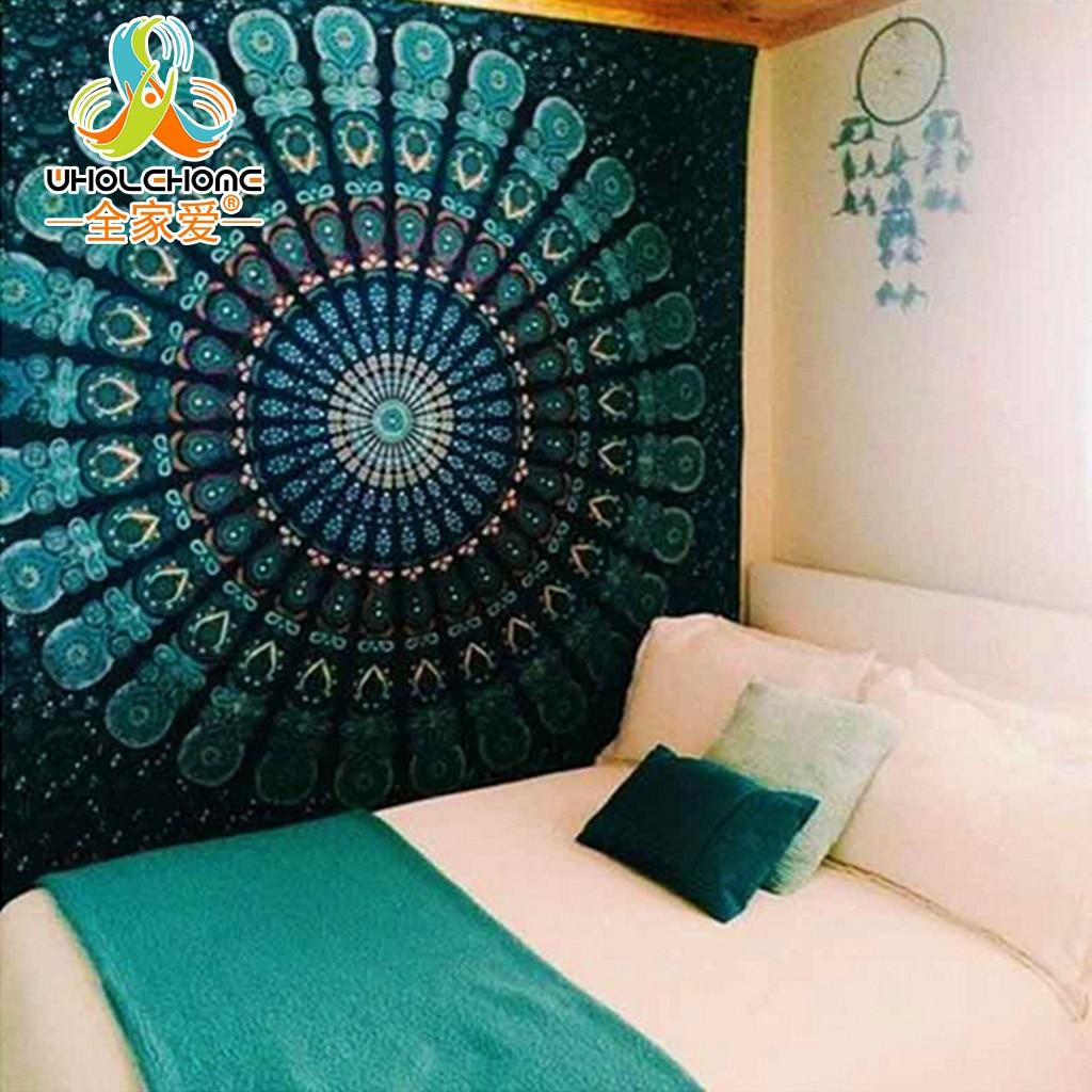 Indian Mandala Tapestry Hippie Wall Hanging Tapestries Boho Bedspread Beach Towel Yoga Mat Blanket Table Cloth 210*150/150*130c