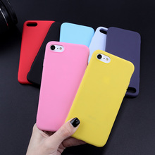 Candy Color TPU Case For iPhone 7 8 Plus X XR XS Max 6 6S 5 5S SE Luxury Matte Silicone Solid Soft Phone Cover