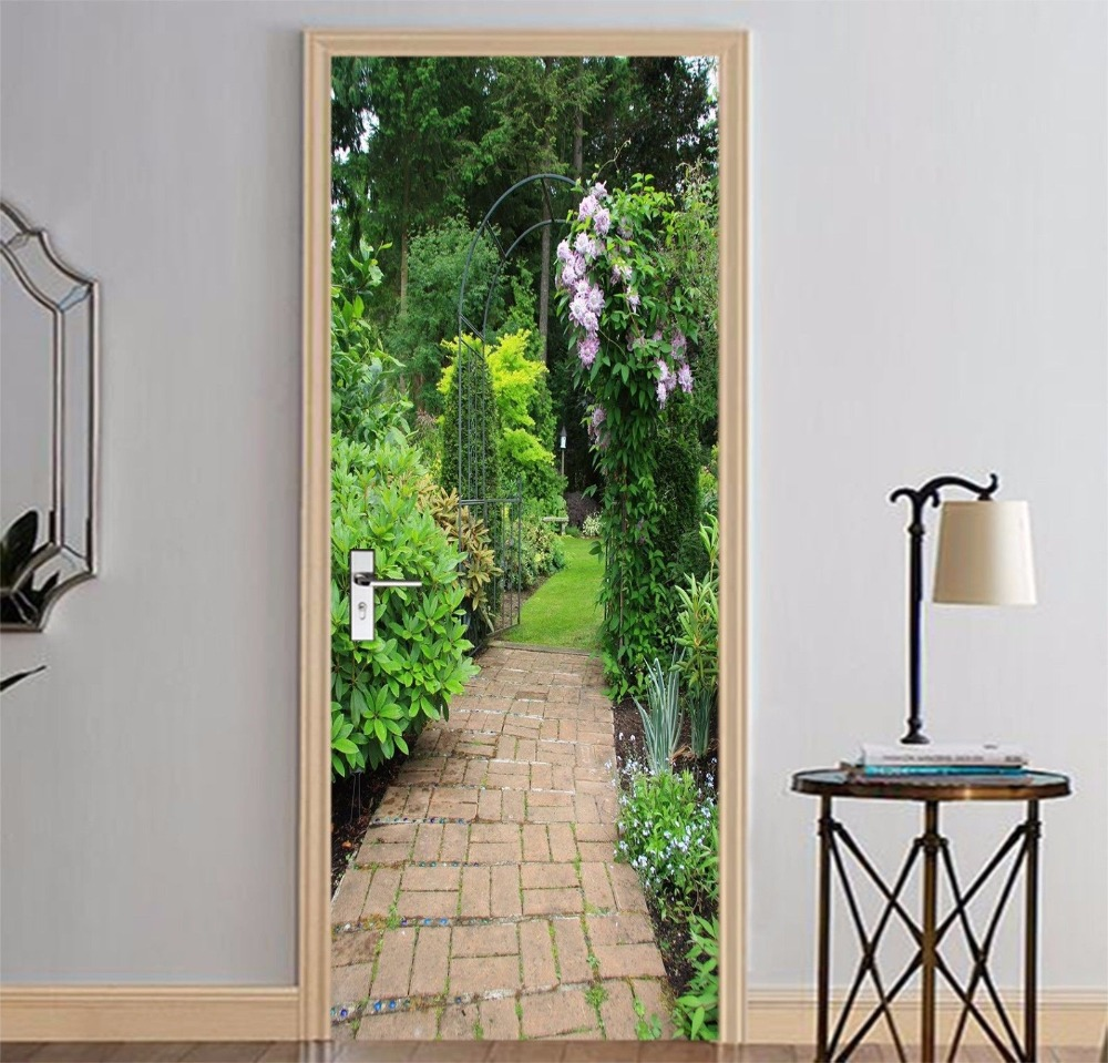 Free Shipping Home Decorators: Free Shipping Garden Path Door Wall Stickers DIY Mural