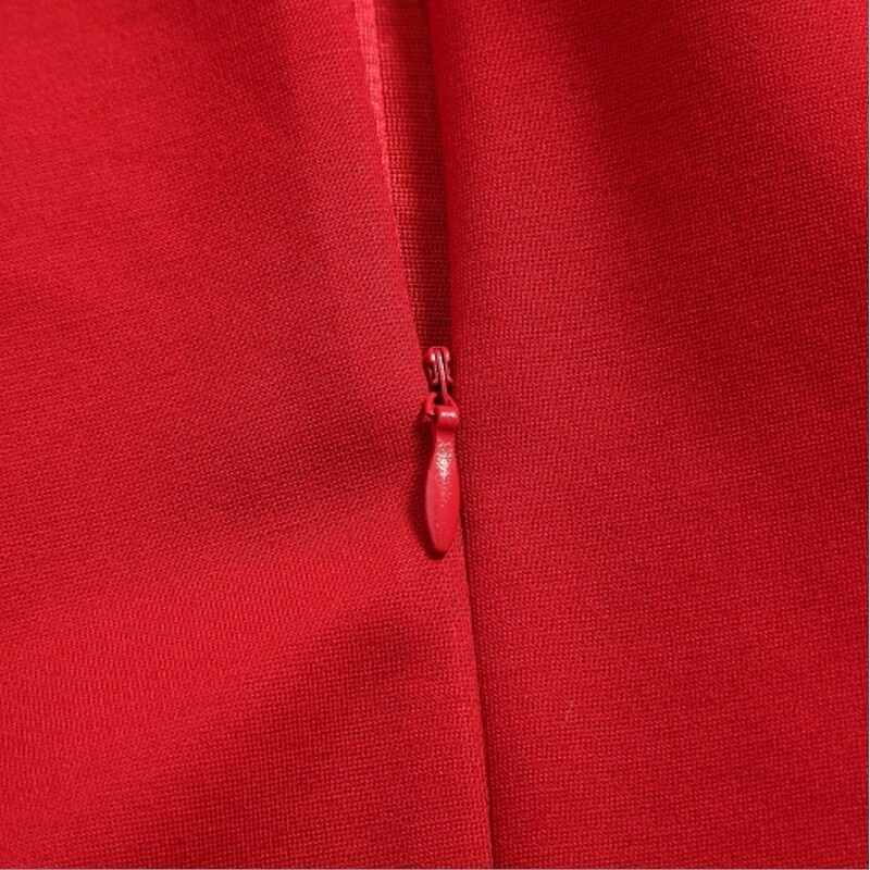 MAX Lulu брендовая одежда 2017 Китай Стиль модные Цветочный принт красное платье женские пикантные Slim Fit Осень Bodycon женщин Платья для женщин Бесплатная - 4