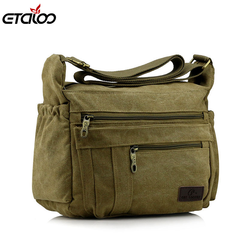 men bag canvas bag men shoulder fashion handbag  message bag casual canvas satchel men sling bag