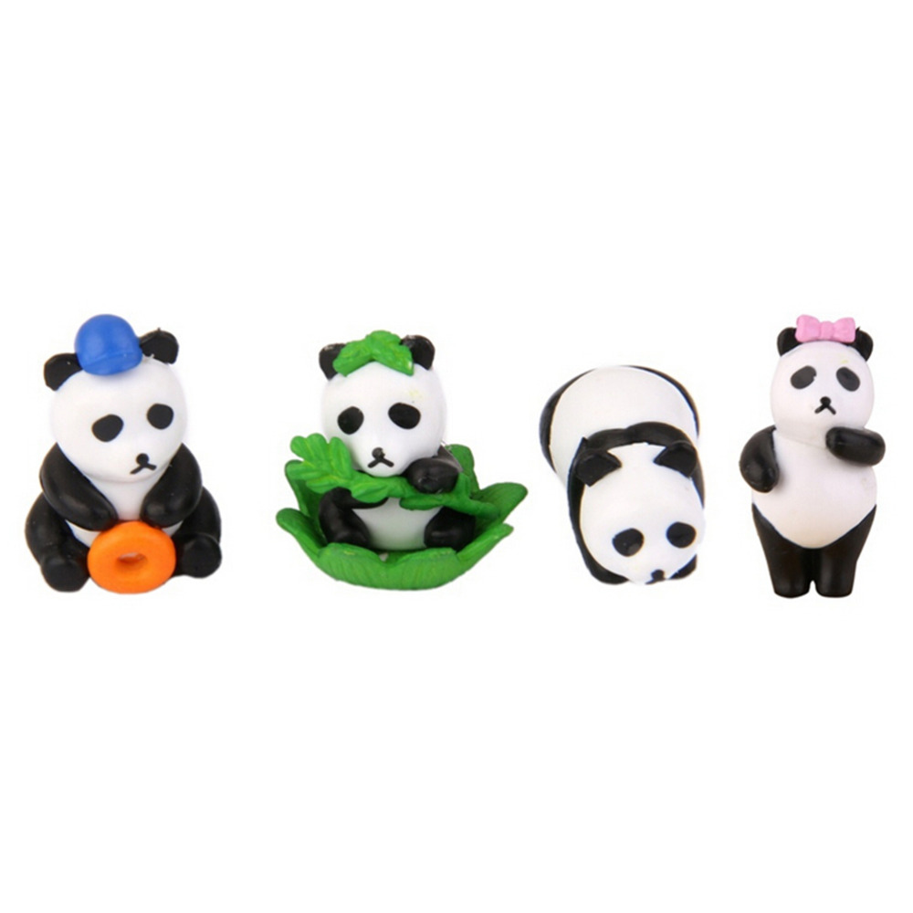 Kids Toys Figure Model Miniature-Figurines Japanese Anime Panda TOYZHIJIA Resin 4pcs