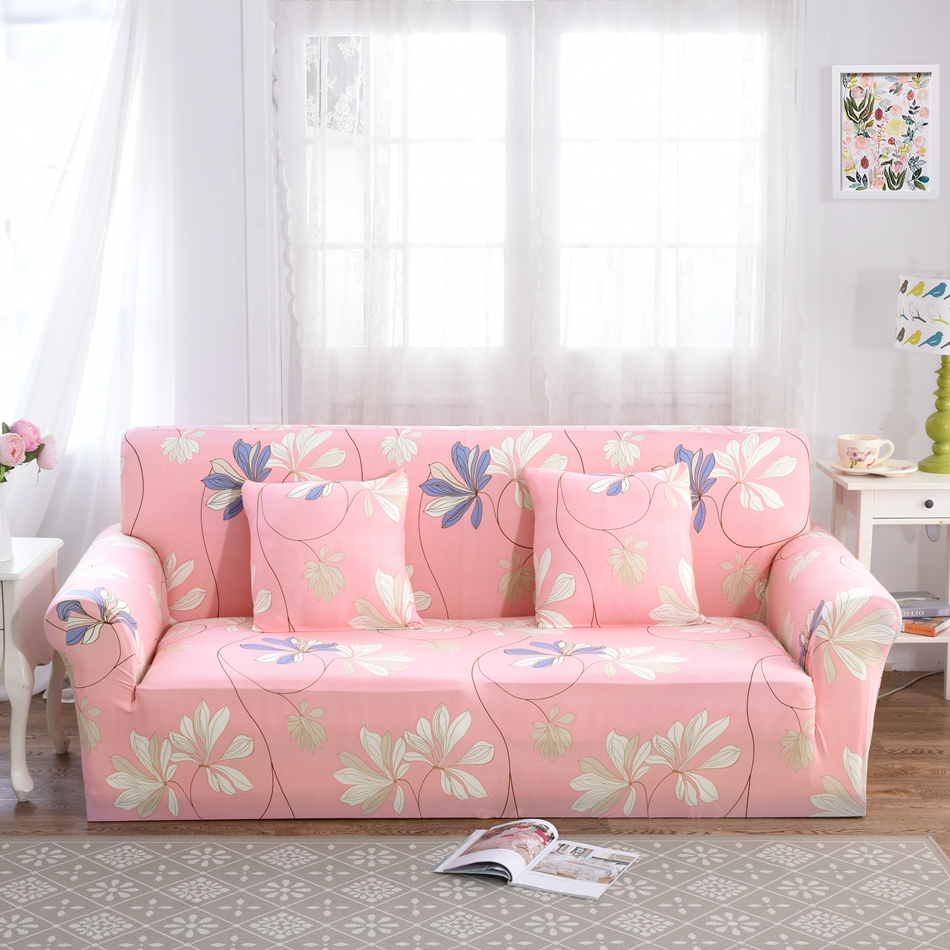 Pink Sofa Cover: Sweet Pink Flowers Sofa Covers For Living Room Multi Size