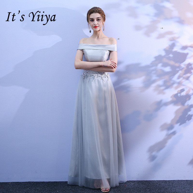 It's YiiYa Floor-length Lace Mesh   Bridesmaid     Dresses   Elegant Many Styles Back Lace Slim A-line Frocks B011