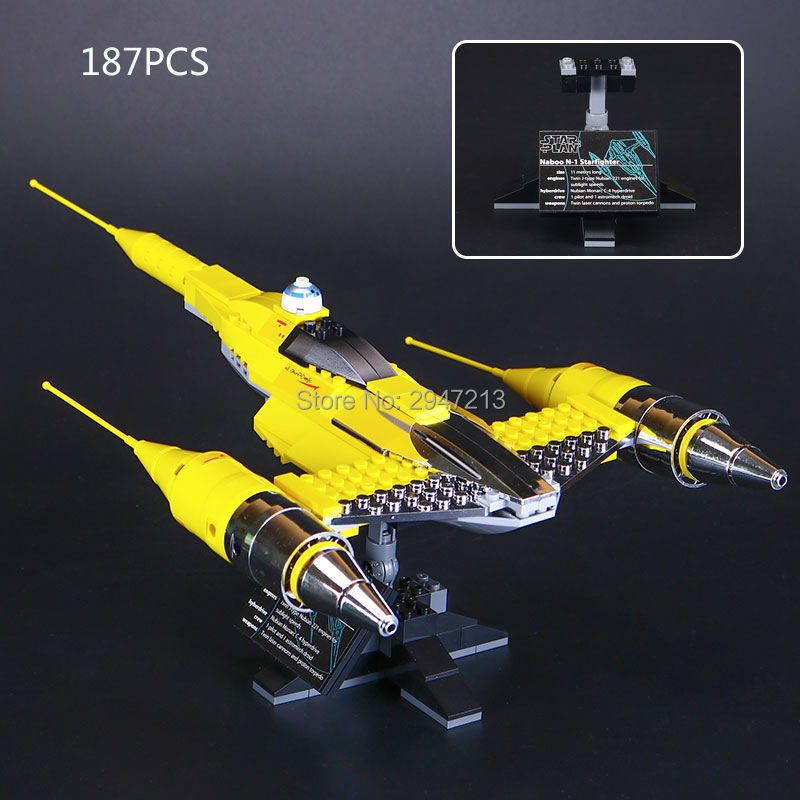 hot compatible LegoINGlys Star Wars series Building Blocks naboo n-1 plan space starfighter Model brick Toys for children gift ...