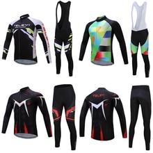 Pro kerékpáros jersey készlet férfi közúti kerékpáros ruházat Kína márka hosszú kerékpáros ruházat MTB kerékpáros ruházat kerékpározás bőrönd készlet kopás